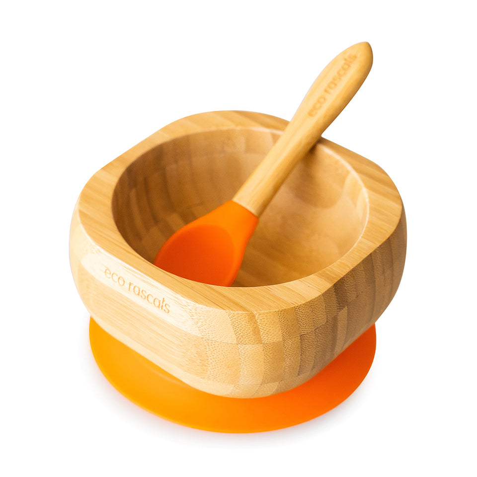 bamboo baby bowl and spoon-Eco rascals