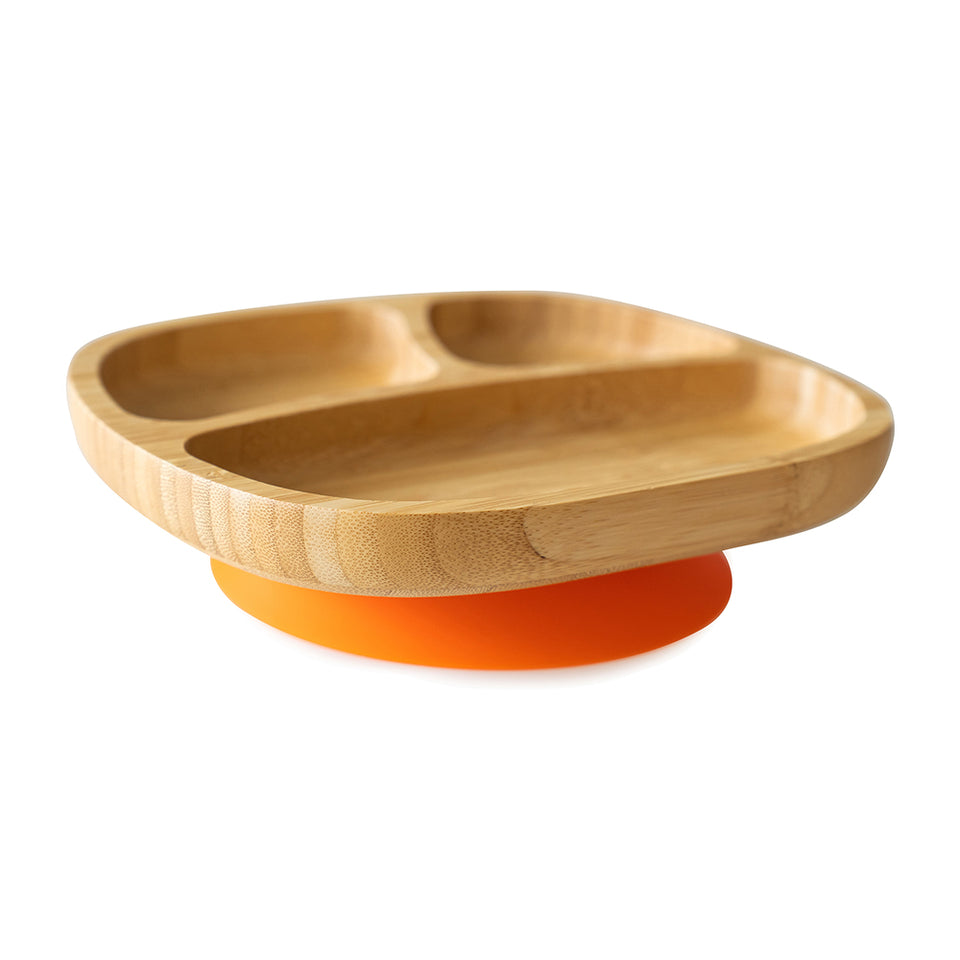 Bamboo Suction Plate for Toddlers - Three sections perfect for fussy eaters