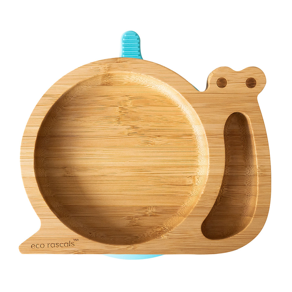 Bamboo suction snail plate