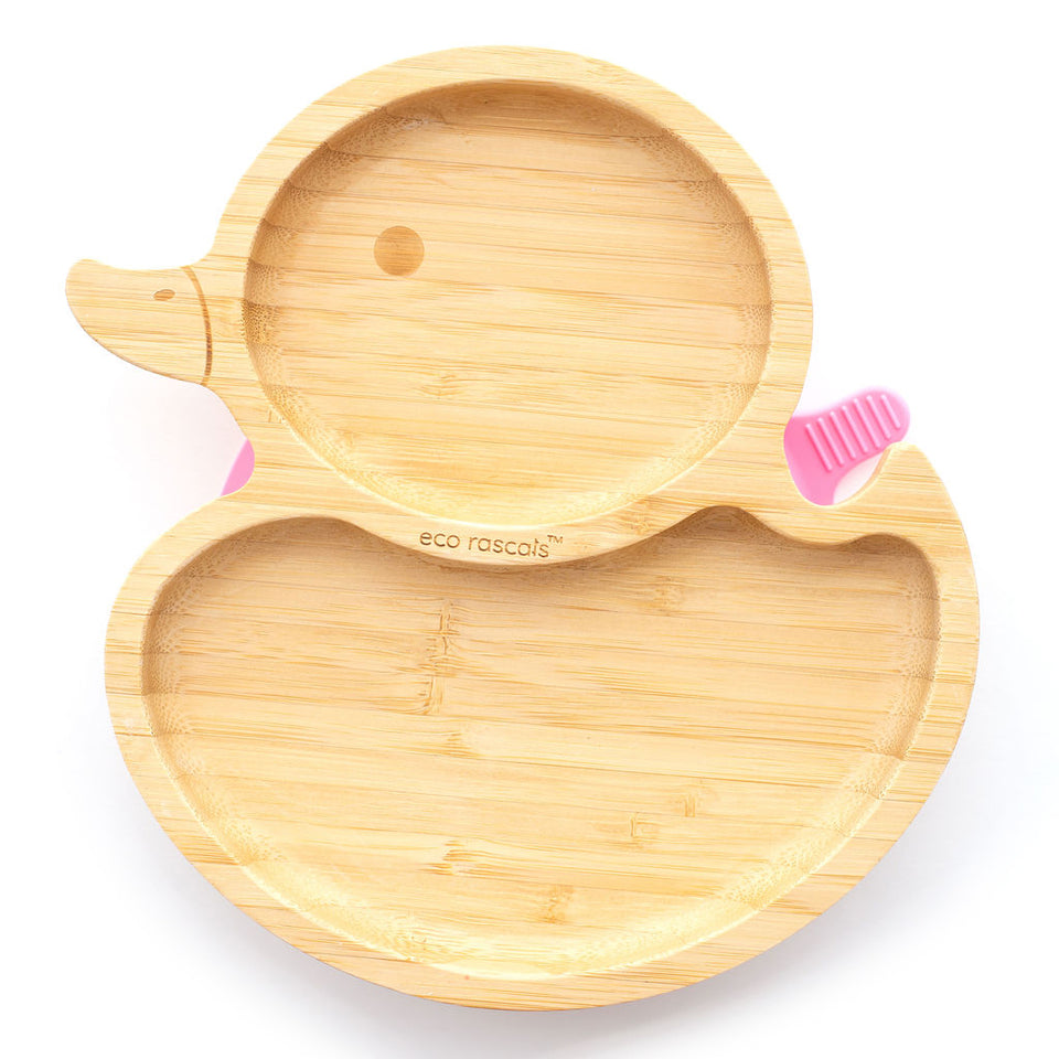 Bamboo suction duck plate-tableware products