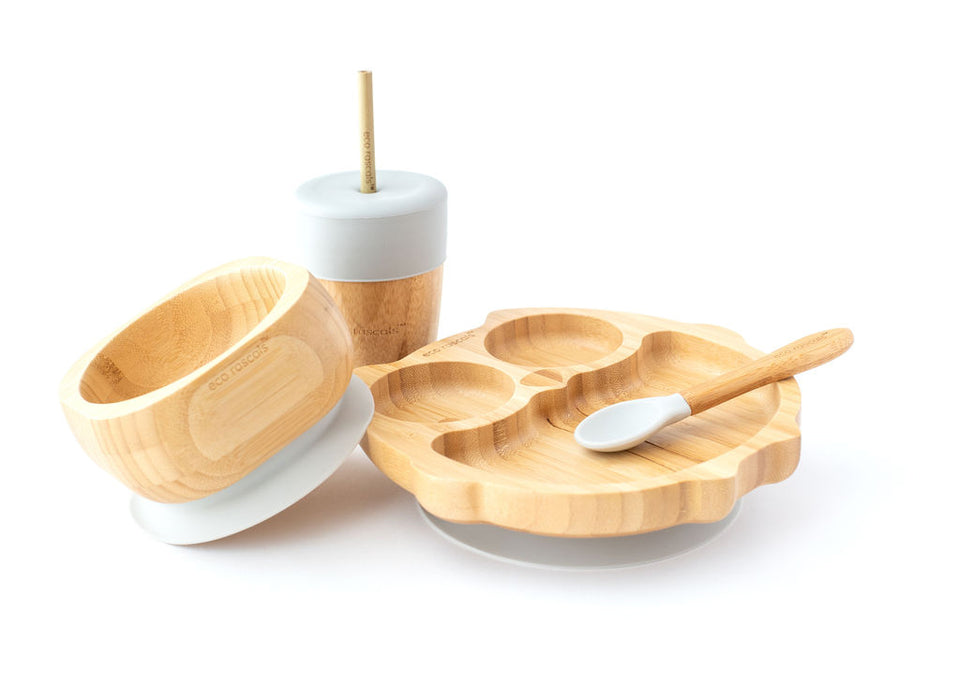 bamboo snack pots