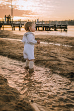 Summer Overalls - White - Little Balasana handmade kids clothes Australia