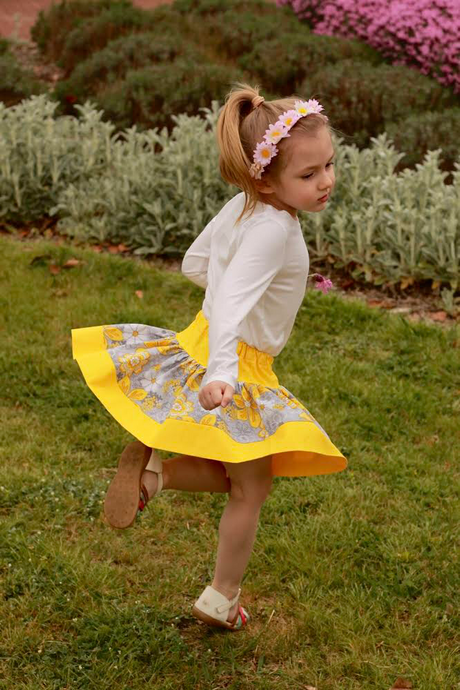 Twirl Skirt - Sunshine (limited edition) - Little Balasana handmade kids clothes Australia