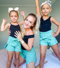 Wrap Shorts SAGE - AVAILABLE NOW! - Little Balasana handmade kids clothes Australia