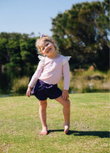 Wrap Shorts - Royal Purple - Little Balasana handmade kids clothes Australia
