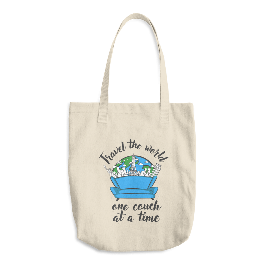 Travel Themed Tote: One Couch at a Time