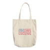 Travel Themed Denim Cotton Tote Bag: Travel Flag
