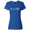Travel Themed T-Shirt: Wander-MUST Ladies Royal Blue