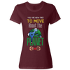 Travel Themed T-Shirt: Free to Move About the Planet Ladies Maroon