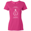 Travel Themed T-Shirt: Tourist vs Traveler Ladies White Words Pink