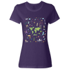 Travel Themed T Shirt: Iconic Places Ladies Purple