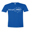 Travel Themed T-Shirt: Wander-MUST Royal Blue