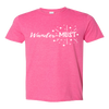 Travel Themed T-Shirt: Wander-MUST Pink