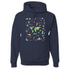 Travel Themed Hoodie: Iconic Places Navy Blue
