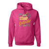 Travel Themed Hoodie: Stamp Collector Pink