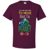 Travel Themed T-Shirt: Free to Move About the Planet Maroon