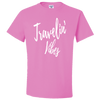 Travel Themed T-Shirt: Travelin' Vibes Pink