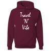 Travel Themed Hoodie: Travel N Vibe Maroon