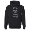Travel Themed Hoodie: Ride or Fly Chick Black