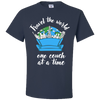 Travel Quote T-Shirt One Couch at a Time White Writing Navy Blue