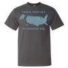 Travel Themed T Shirt: Travel From Sea to Shining Sea Gray