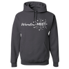 Travel Themed Hoodie: Wander-MUST Gray
