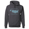 Travel Themed Hoodie: Travel From Sea to Shining Sea Gray