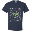 Travel Themed T Shirt: Iconic Places Navy Blue