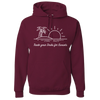 Travel Themed Hoodie: Trade Desks for Sunsets Maroon