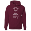 Travel Themed Hoodie: Ride or Fly Chick Maroon