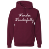 Travel Themed Hoodie: Wander Wonderfully Maroon