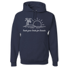 Travel Themed Hoodie: Trade Desks for Sunsets Navy Blue