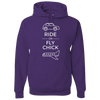 Travel Themed Hoodie: Ride or Fly Chick Purple
