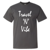 Travel Themed T-Shirt: Travel N Vibe Dark Gray