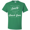 Travel Quote T-Shirt Beach Goer Light Green