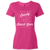 Travel Quote T Shirt Beach Goer Ladies Pink