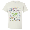 Travel Themed T Shirt: Iconic Places White