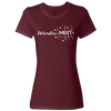 Travel Themed T-Shirt: Wander-MUST Ladies Maroon