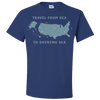 Travel Themed T-Shirt: Travel From Sea to Shining Sea