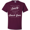 Travel Quote T-Shirt Beach Goer Maroon