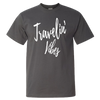 Travel Themed T-Shirt: Travelin' Vibes Gray