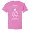 Travel Themed T-Shirt: Tourist vs Traveler Pink