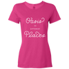 Travel Themed T Shirt: Oasis in Different Places Ladies Pink