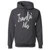 Travel Themed Hoodie: Travelin' Vibes Gray