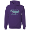 Travel Themed Hoodie: Travel From Sea to Shining Sea Purple
