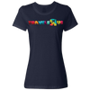 Travel Themed T-Shirt: Travels R Us Ladies Navy Blue