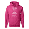 Travel Themed Hoodie: Ride or Fly Chick Pink
