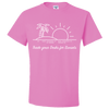 Travel Themed T-Shirt: Trade Desks for Sunsets Pink