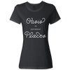 Travel Themed T Shirt: Oasis in Different Places Ladies Black
