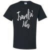 Travel Themed T-Shirt: Travelin' Vibes Black
